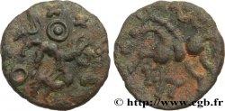 GALLIA - AULERCI EBUROVICES (Area of Évreux) Bronze au cheval et au sanglier