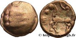 """GALLIA BELGICA - REMI (Area of Reims) Quart de statère """"aux segments de cercles"""", cheval à gauche, en bas électrum"""