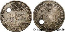 NORMANDIE (NOBLESSE ET VILLES DE...) Charles de Bourbon-Vendôme, archevêque de Rouen, exemplaire martyrisé comme médaille de mariage (?)