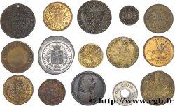 LOTS Lot de quinze jetons de Angleterre états et métaux divers