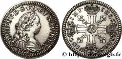 DRITTE FRANZOSISCHE REPUBLIK Essai de métal et de module au type de Louis XV frappé brillant ST