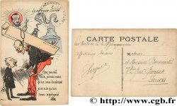 FREEMASONRY carte postale couleurs satirique 1916