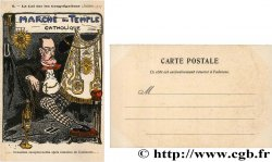 FREEMASONRY carte postale couleurs satirique, opposition catholique ND