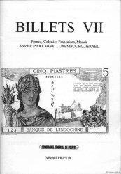 Billets 7 - France - Indochine - Luxembourg - Israel PRIEUR Michel, DESSAL Jean-Marc