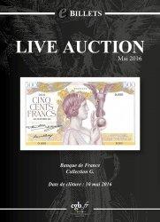 eBillets Live Auction Mai 2016 CORNU Joël, DESSAL Jean-Marc