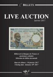eBillets Live Auction Janvier 2017 CORNU Joël, DESSAL Jean-Marc
