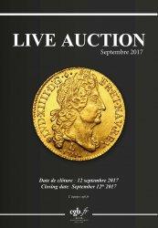 Live Auction - Septembre 2017 - à paraître CLAIRAND Arnaud, COMPAROT Laurent, CORNU Joël, DESSERTINE Matthieu, PARISOT Nicolas, SCHMITT Laurent, VOITEL Laurent