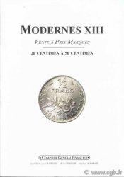 Modernes 13 - 20 centimes à 50 centimes PRIEUR Michel, SOMBART Stéphan