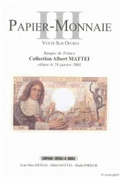 PAPIER-MONNAIE 3, collection Mattei DESSAL Jean-Marc, PRIEUR Michel