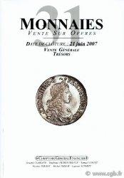 Monnaies 31- Vente générale PRIEUR Michel, SCHMITT Laurent
