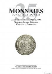 Monnaies 35, monnaies royales, féodales, modernes et étrangères.  PRIEUR Michel, CLAIRAND Arnaud, DESROUSSEAUX Stéphane
