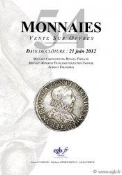 Monnaies 54 CLAIRAND Arnaud, DESROUSSEAUX Stéphane, PRIEUR Michel