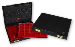 Coffret Minibring ABAFIL avec 3 plateaux velours (3 x 20 cases pour monnaies de diamètre max. 33 mm) ABAFIL
