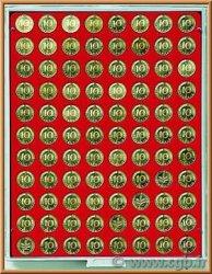 Box Monnaies Standard avec alvéoles ronds pour 88 monnaies diamètre 21,5 mm LINDNER