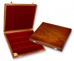 Petit coffret bois 1 plateau 20 cases (avec protection en plexiglas) Alberto Zecchi