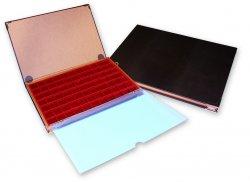 Coffret-Livre, 1 plateau 77 cases carrées (pour monnaies diamètre max. 22 mm) Alberto Zecchi