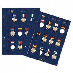 2 pages VISTA-EURO 2 Euro 30 ans du Drapeau européen - 2015 LEUCHTTURM