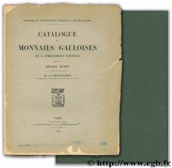 Catalogue des monnaies gauloises de la Bibliothèque nationale + Atlas des monnaies gauloises MURET E., La TOUR H. de