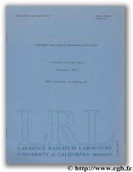 Pottery analysis by neutron activation PERLMAN I., ASARO F.