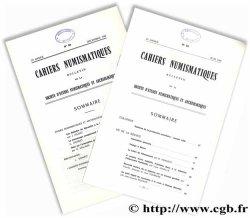 Cahiers numismatiques n° 84 et 95 Collectif
