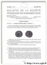 Bulletin de la Société Française de Numismatique - 49e année, n° 1 Collectif