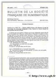Bulletin de la Société Française de Numismatique - 48e année, n° 2 Collectif