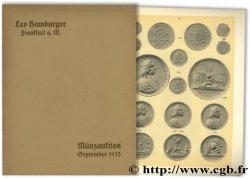 Katalog, Münzen und Medaillen : Sammlung des Herrn Johannes Uhrmacher in Obercassel HAMBURGER L.