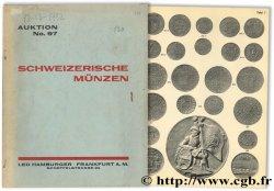 Sammlung Schweizerischer Münzen und Medaillen aus schweizerischem Besitz - Auktions-Katalog No. 97 HAMBURGER L.