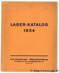 Lager-Katalog 1934 HAMBURGER L.