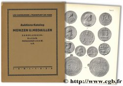Auktions-Katalog, Münzen und Medaillen - Sammlungen : B. von C. in St., Hofmarschall von A. in W., u. A. HAMBURGER L.
