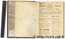 Catalogo di monete e medaglie - Anno II.° - N. 1 à 12 RATTO R.