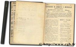Catalogo di monete e medaglie - Anno I.° - N. 1 à 12 RATTO R.