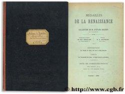 Médailles de la Renaissance - Collection de M. Stefano Bardini de Florence HOFFMANN H.