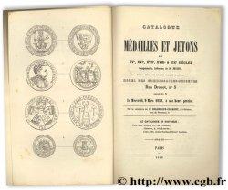 Catalogue de médailles et jetons des XVe, XVIe, XVIIe, XVIIIe, & XIXe siècles composant la collection de M. PETETIN CHARVET J.