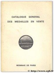 Catalogue général des médailles en vente MONNAIE DE PARIS
