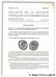 Bulletin de la Société Française de Numismatique - 52e année, n° 4 Collectif