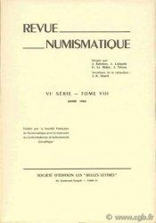 Revue Numismatique 1966, VIe série, tome VIII