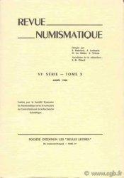 Revue Numismatique 1968 - VIe série, t. X