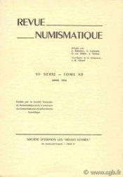 Revue Numismatique 1970, VIe série, tome XII