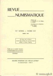 Revue Numismatique 1973, VIe série, tome XV