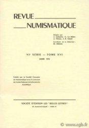 Revue Numismatique 1974, VIe série, tome XVI