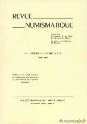 Revue Numismatique 1975, VIe série, tome XVII