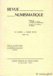 Revue Numismatique 1976, VIe série, tome XVIIII