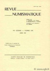 Revue Numismatique 1978, VIe série, tome XX.