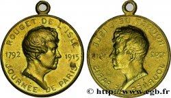 TROISIÈME RÉPUBLIQUE Médaille bractéate de Rouget de l'Isle