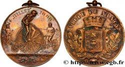 TROISIÈME RÉPUBLIQUE Médaille de Nancy - sport vélocipédique