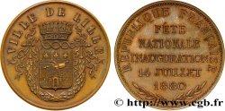 TROISIÈME RÉPUBLIQUE Médaille de la fête nationale - 14 juillet 1880