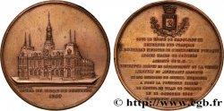 SECOND EMPIRE Médaille de fondation de l'Hôtel de Ville de Poitiers