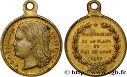 SECOND EMPIRE Médaillette de la place du Roi de Rome / Trocadéro