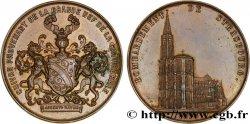 TROISIÈME RÉPUBLIQUE Médaille du bombardement de Strasbourg